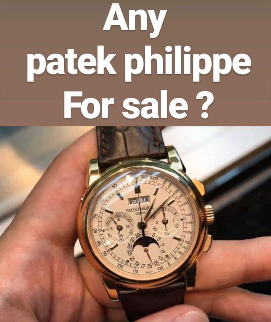 مطلوب للشراء ساعات باتك فيليب